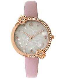INC Women's Lavender Purple Faux-Leather Strap Watch 34mm, Created flor Macy's