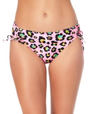 Juniors' Animal-Print Hipster Bikini Bottoms