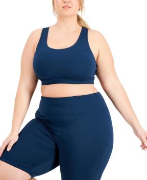 Plus Size Sweat Set Sports Bra