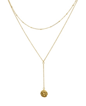 Layered Y Disc Necklace