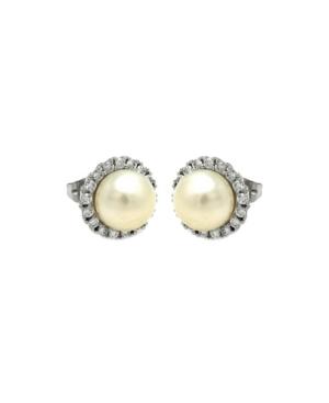 Freshwater Pearl Halo Earrings