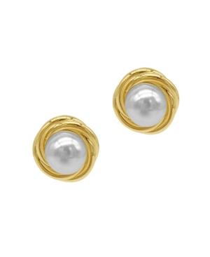 Imitation Pearl Framed Earrings