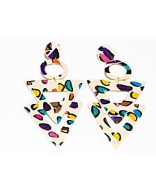 Leopard T Dangle Earrings