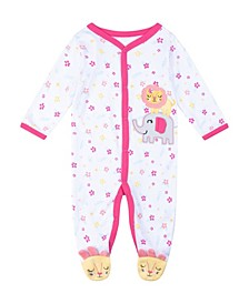 Baby Girls Elephant and Lion Footie