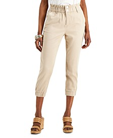 INC Petite Paperbag-Waist Cropped Pants, Created for Macy's