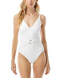 Sash Tummy-Control One-Piece Swimsuit