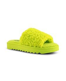 Women's Fuzzie Faux Fur Slides