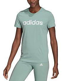 Women's Essentials Cotton Linear Logo T-Shirt