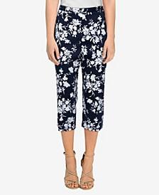 Plus Size Savannah Silky Floral Capri