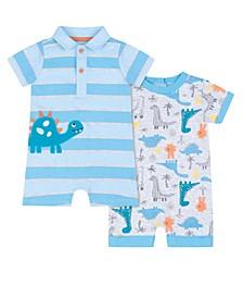 Baby Boys 2-Pack Dinosaur Romper