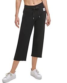 Women's Raw Hem Capri Pants