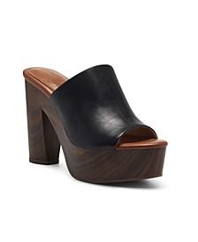 Women's Shelbie Block Heel Platform Mules