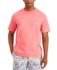 Men's Red, White & Bluefin Logo Graphic T-Shirt