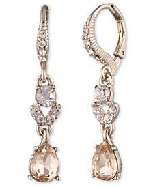 Gold-Tone Stone & Crystal Drop Earrings