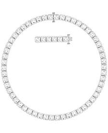 "Rhodium-Plated Millenia All-Around Necklace, 15"" + 2"" extender"
