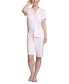 Printed Knit Bermuda Shorts Pajama Set