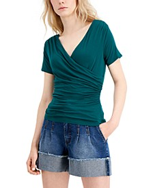INC Faux-Wrap Top, Created for Macy's