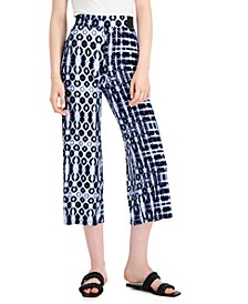 INC Printed Cropped Wide-Leg Culottes, Created for Macy's