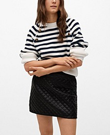Buttoned Striped Sweater
