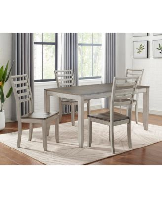 Abacus Dining 5-Pc. Set ( Table + 4 Side Chairs)
