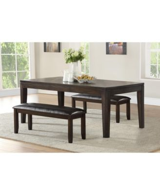 Ally Dining 3-Pc Set ( Table + 2 Benches)