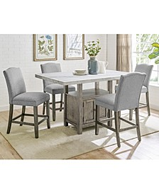 Grayson Dining 5-Pc Set ( Table + 4 Side Chairs)