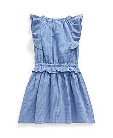 Toddler Girls Gingham Seersucker Dress