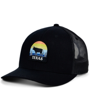 Local Crowns Texas Views Patch Curved Trucker Cap