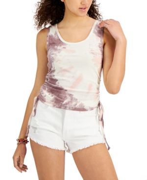 Juniors' Side-Ruched Tank Top