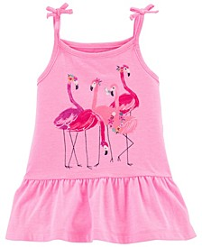 Baby Girls Flamingo Jersey Tank