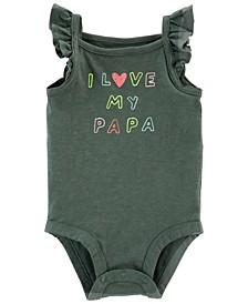 Baby Girls I Love My Papa Bodysuit