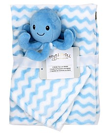 Baby Boys and Girls Blanket and Nunu Set