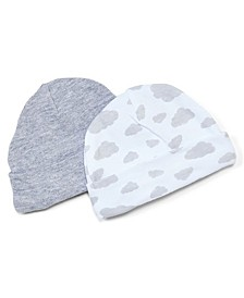 Baby Boys and Girls Heather Beanie Hats, Pack of 2