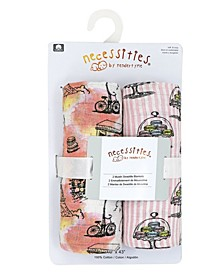 Baby Girls Muslin Swaddle Blankets, Pack of 2
