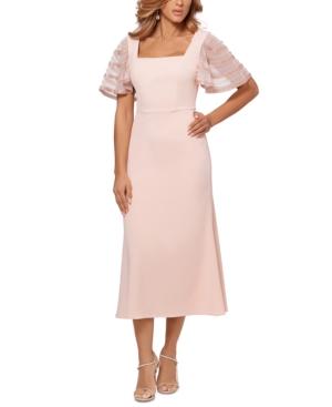 Beaded-Sleeve Midi Dress