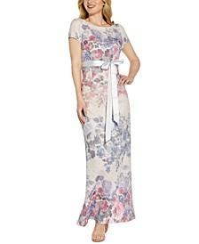 Floral Tie-Waist Gown