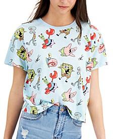 Juniors' Spongebob Cropped T-Shirt