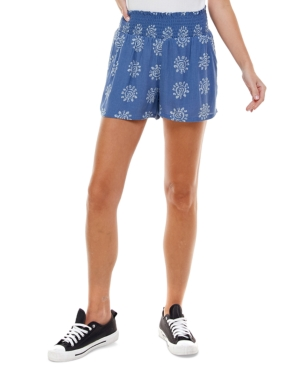 Juniors' Smocked-Waist Pull-On Shorts