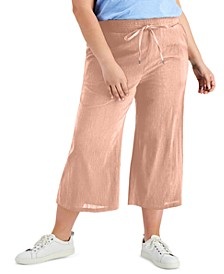 Plus Size Pull-On Cropped Pants, Created for Macy's