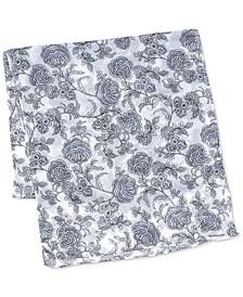 Valencia Bi-Color Floral Wrap Scarf