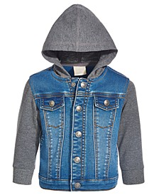 Baby Boys Hooded Denim Jacket, Created for Macy's