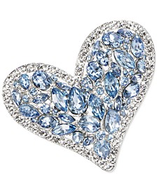 Multi-Crystal Heart Pin, Created for Macy's
