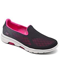 Women's GOwalk 5 Alive Mesh Slip-On Walking Sneakers from Finish Line