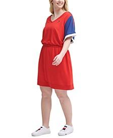 Plus Size Colorblocked Logo Sneaker Dress