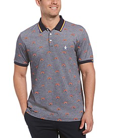 Men's Pride Rainbow Tipped Collar Polo Shirt