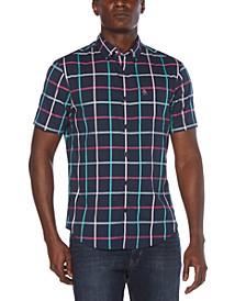 Men's Windowpane Button-Down Shirt