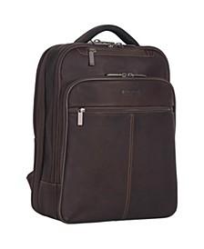 "Full-Grain Colombian Leather 16"" Laptop Tablet Travel Backpack"