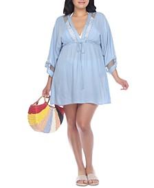 Plus Size Crochet-Trim Cover-Up Dress