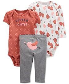 Baby Girls 3-Pc. Bird Little Character Set