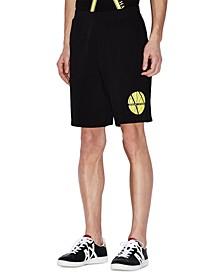 Men's Fleece Circle Neon Logo Jogger Shorts